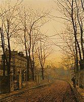 An Autumn Idyll, 1885, grimshaw