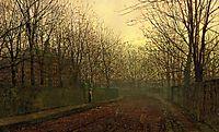 An Autumn Lane, grimshaw