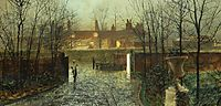 Arriving in the hall, 1878, grimshaw