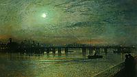 Battersea Bridge, 1885, grimshaw