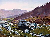 Bowder Stone, Borrowdale, c.1870, grimshaw