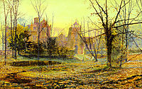 Evening, Knostrop Old Hall, 1870, grimshaw