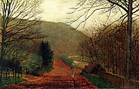 Forge Valley, Scarborough, 1875, grimshaw