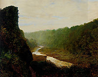 Landscape with a winding river, grimshaw