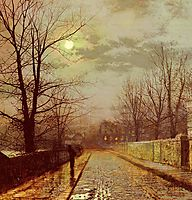 Lane In Cheshire, 1883, grimshaw