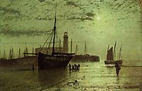 The Lighthouse at Scarborough, grimshaw