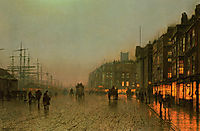 Liverpool from Wapping, 1875, grimshaw