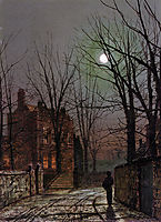 Moonlight, 1882, grimshaw