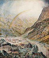 A Mountain Road, Flood Time, 1868, grimshaw