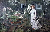 The Rector-s Garden, Queen of the Lilies, 1877, grimshaw