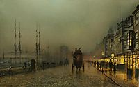 Saturday night, on the clyde at Glasgow, grimshaw