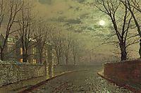 Silvery moonlight, grimshaw