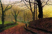 Stapleton Park near Pontefract Sun, 1877, grimshaw