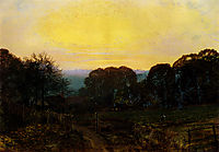 Twilight, The Vegetable Garden, 1869, grimshaw