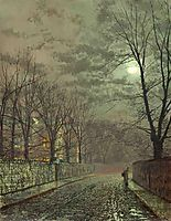 Under the moonbeams, Knostrop Hall, grimshaw