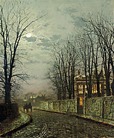 A Wintry Moon, 1886, grimshaw
