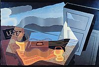 Bay view, 1921, gris