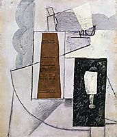 Bottle and Glass, gris