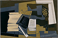 Carafe and Book, 1920, gris