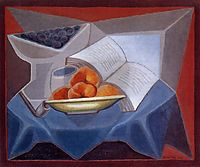 Fruit and Book, gris