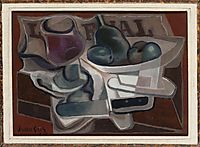 Fruit Dish and Glass, 1924, gris