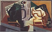 Glass and carafe, 1917, gris