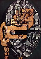 Guitar, Bottle and Glass, gris