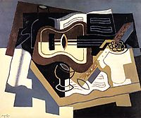 Guitar and Clarinet, 1920, gris