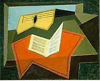 Guitar and Music Paper, 1927, gris