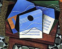 Guitar on a Table, 1915, gris
