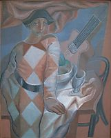 The Harlequin, 1924, gris
