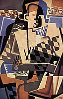 Harlequin with a Guitar, gris