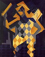 Harlequin with Violin, gris
