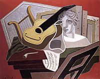 The Musician s Table, 1926, gris