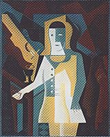 Pierrot with Guitar, 1919, gris