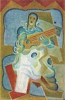 Pierrot Playing Guitar, 1923, gris