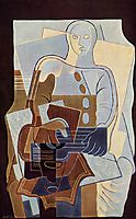Pierrot with Guitar, 1922, gris