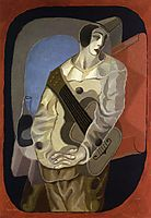 Pierrot with Guitar, 1925, gris