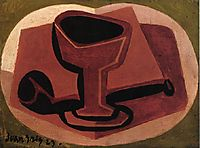 Pipe and Glass, 1923, gris