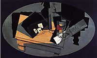 Playing Cards and Siphon, 1916, gris