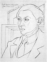 Portrait of Daniel-Henry Kahnweiler, 1921, gris