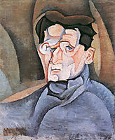 Portrait of Maurice Raynal, 1911, gris