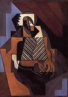 Seated Peasant Woman, 1918, gris