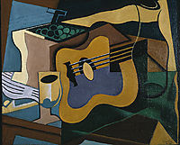 Still Life with Guitar, 1920, gris
