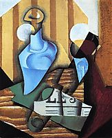 Still Life with Bottle and Glass, 1914, gris