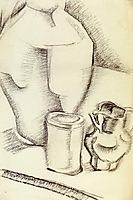 Still Life with Goblet, gris