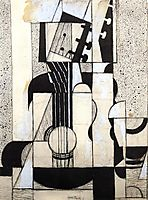 Still Life with Guitar, 1913, gris