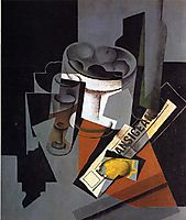 Still Life with Newspaper, 1916, gris
