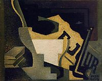 Still Life with Newspaper, 1918, gris