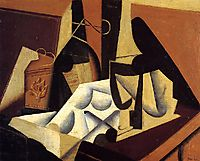 Still Life with White Tablecloth, 1916, gris